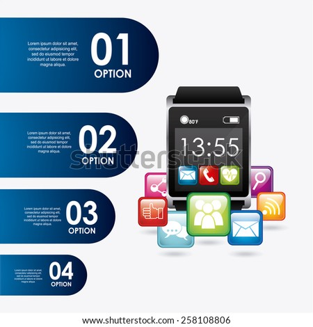 wearable technology design, vector illustration eps10 graphic