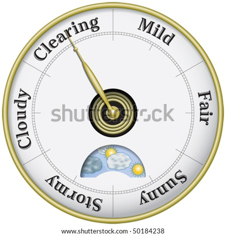 Weather and business barometer - stock vector