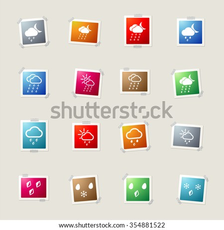 Weather card icons for web