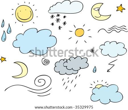 weather cartoon - stock vector