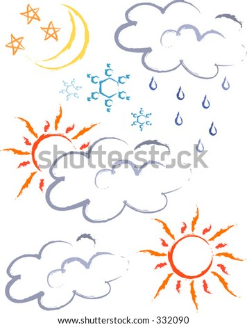 Weather conditions. - stock vector