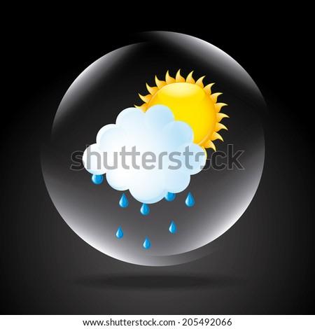 Weather design over black background, vector illustration - stock vector