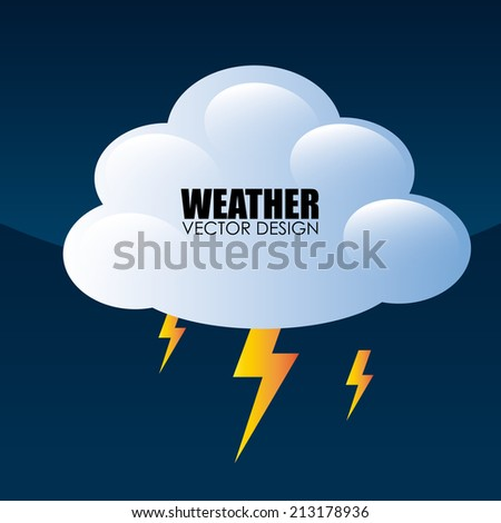 Weather design over blue background, vector illustration - stock vector