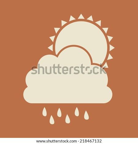 Weather design over orange background, vector illustration - stock vector