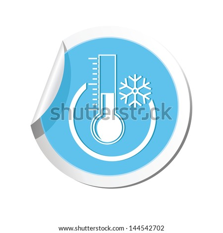 Weather forecast, thermometer icon - stock vector