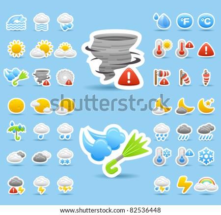 weather icon set - stock vector