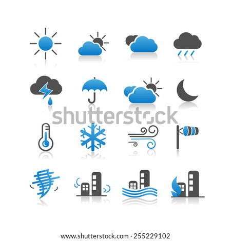 Weather icon set - Simplicity Series - stock vector