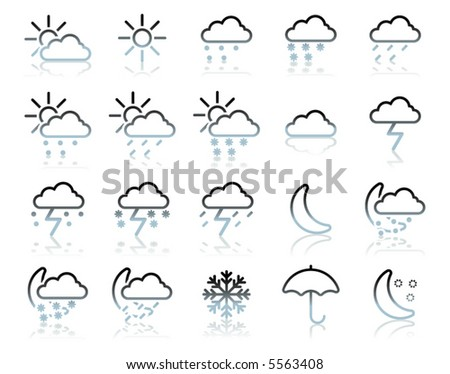 weather icon set (vector illustration)