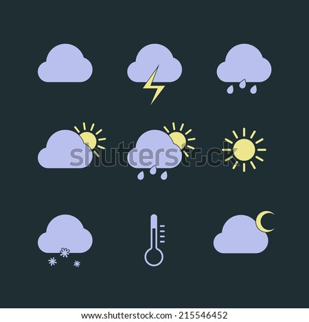 Weather Icon Set. Vector illustration, eps 8.