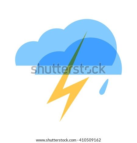 Weather icon. Thunderstorm - stock vector