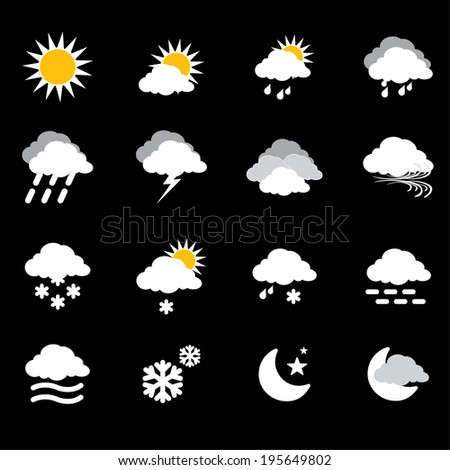 Weather icon-vector