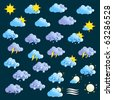Weather Icons Set 1 - stock vector