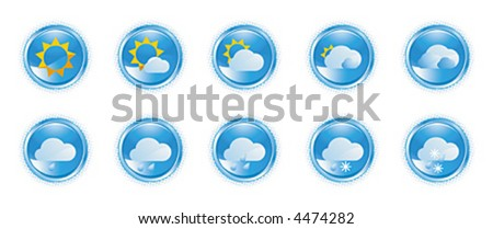 Weather icons, shiny buttons (1)