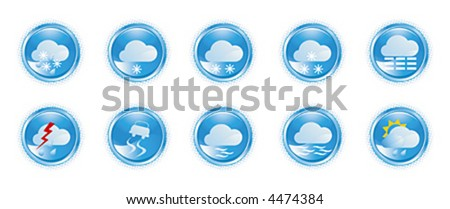 Weather icons, shiny buttons (2)