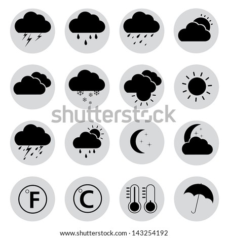 weather icons Vector.