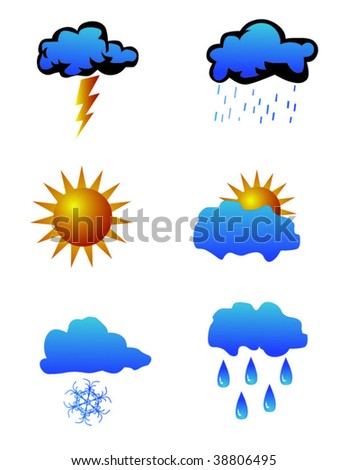 Weather icons vector set - stock vector