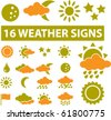 weather signs. vector - stock vector