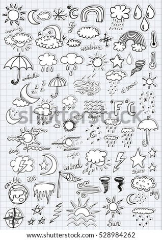 Weather Symbol Stickers