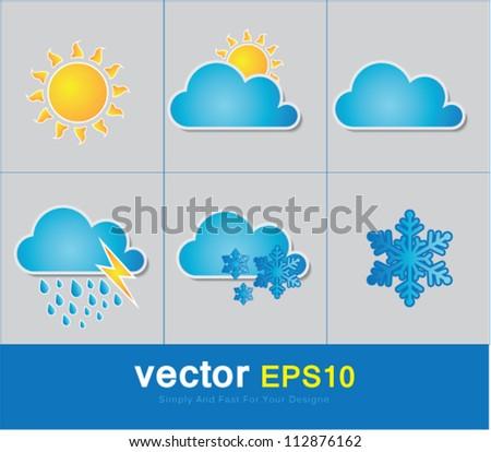 weather vector - stock vector