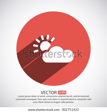 weather  vector icon - stock vector