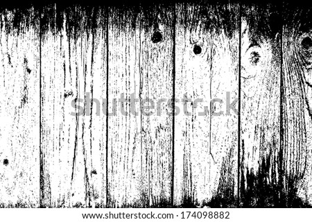 Weathered Planks Background - rough overlay texture for your design. EPS10 vector. - stock vector