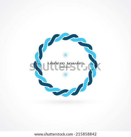 weave round frame. vector eps10 - stock vector