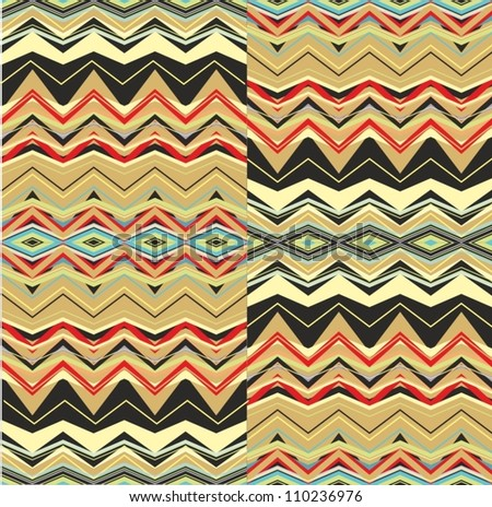 weaving geometric pattern - stock vector