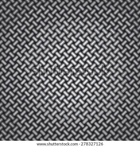 Weaving Pattern. Wire Net Background - stock vector