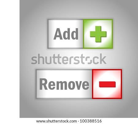 Web Add & Remove Labels. Vector - stock vector
