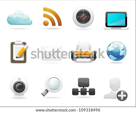 web and internet icon set