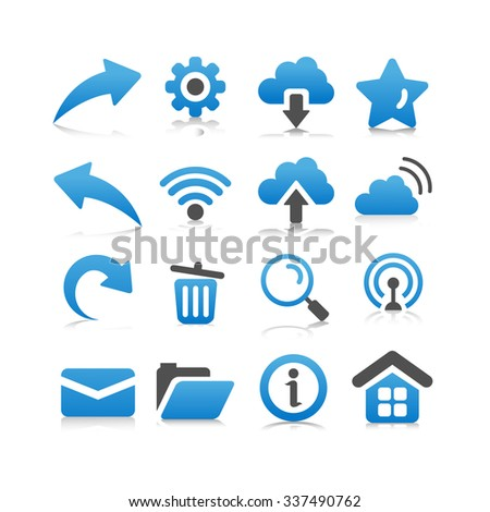 Web and Internet Icon set - Flat Series - stock vector