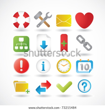 Web and Internet Icons Set Second In a Series - stock vector