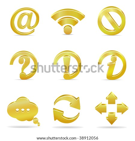 Web and internet symbols - stock vector