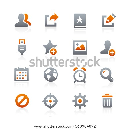 Web and Mobile Icons 2 // Graphite Series - stock vector