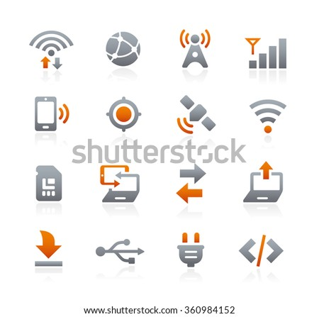 Web and Mobile Icons 6 // Graphite Series - stock vector