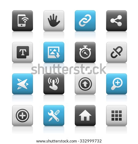 Web and Mobile Icons 10 // Matte Series - stock vector