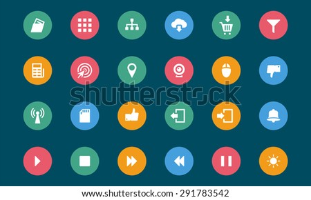 Web and Mobile Vector Icons - stock vector