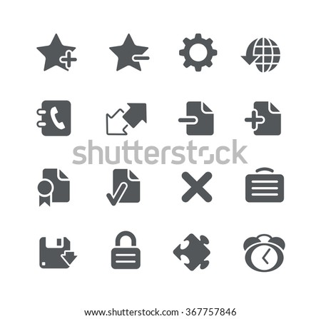 Web and Software Development icons // Utility Series - stock vector