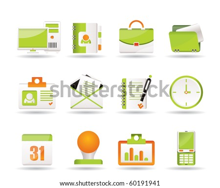 Web Applications,Business and Office icons, Universal icons - vector icon set - stock vector