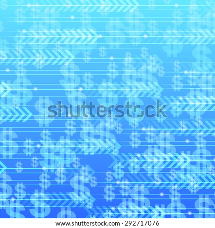 Web background design with money flow and growth theme. - stock vector