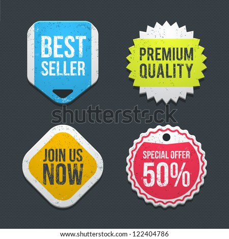 Web badges. vector - stock vector