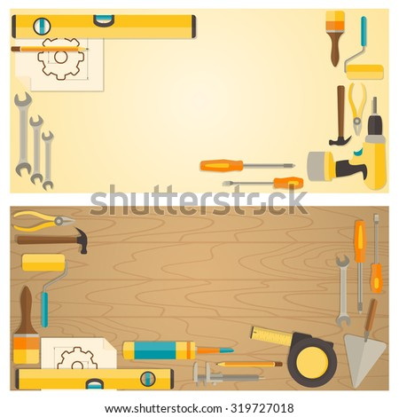 Web banner concept diy shop vector stock photo photo vector web banner concept of diy shop vector flat design background with do it solutioingenieria Image collections