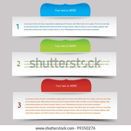 Web banner set, vector - stock vector