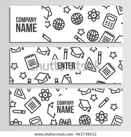 Web banner with back to school pattern. Back to school branding background