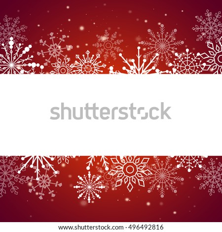 Web banner with snowflakes. Vector illustration