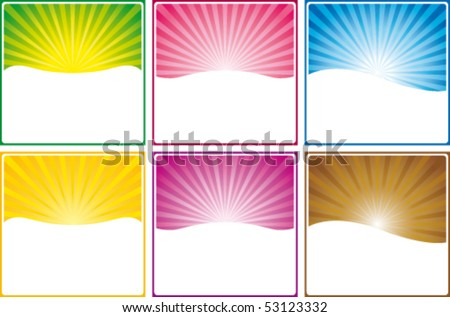 Web banners in six colors