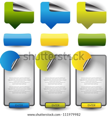 web banners/stickers tags - stock vector