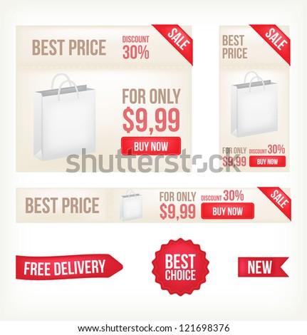 Web banners. Vector - stock vector