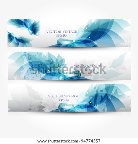 Web banners vintage - stock vector