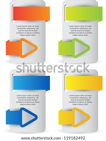web banners with arrow ribbons - stock vector